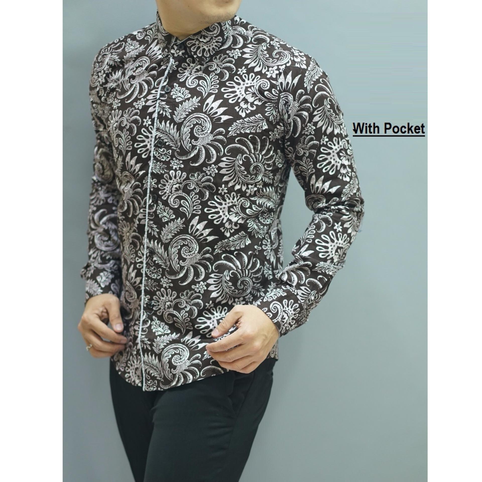Jual Kemeja Batik Slimfit Pria H978c hitam Kombinasi Muslim Koko Source · Kemeja Batik Slimfit BWS015